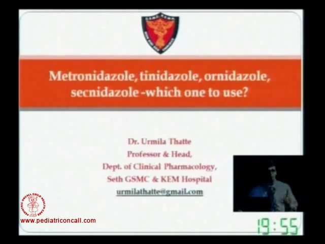 PIDC2011 - Metronidazole, tinidazole, ornidazole, secnidazole -by Dr Santosh Tor