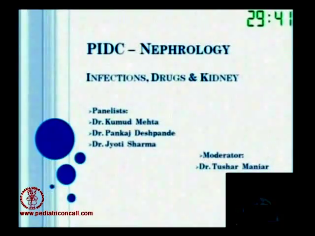 PIDC2011 - Drugs, infections and kidney : Panel Discussion