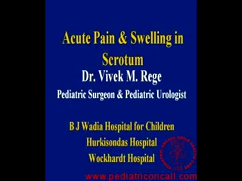 Acute pain and swelling in scrotum -by Dr Vivek Rege