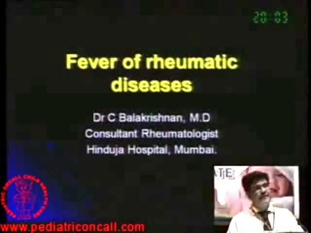 PPU - Fever of Rhemuatic Diseases -by Dr. C Balakrishnan