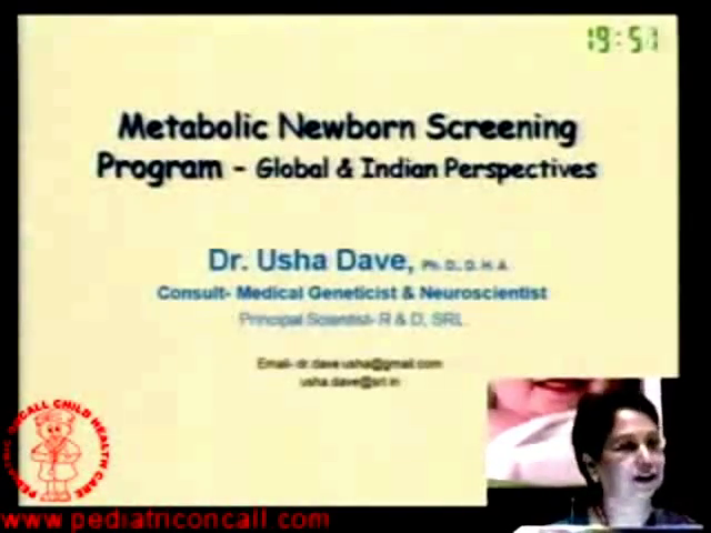 PPU - Metabolic Newborn Screening Program -by Dr. Usha Dave