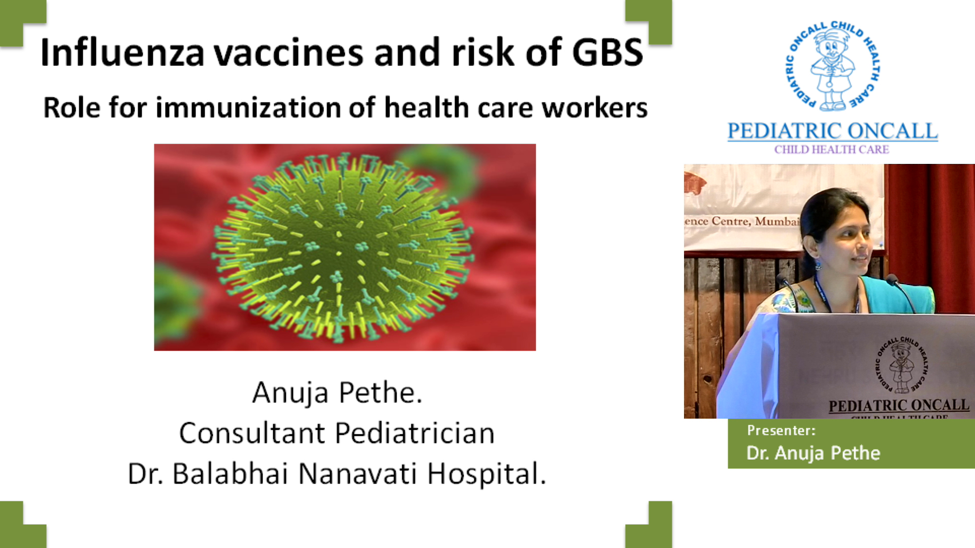 Influenza vaccines and risk of GBS