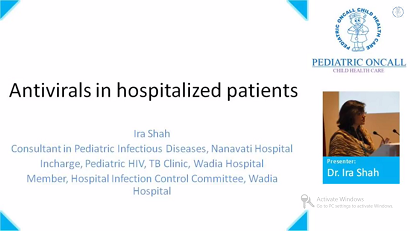 Antivirals in Hospitalized patients