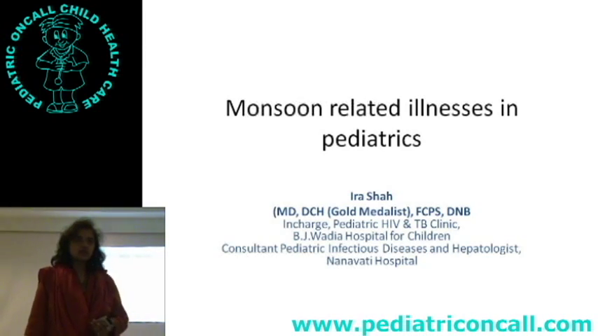 Monsoon related illnesses in pediatrics
